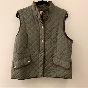 Jackets & Blazers - Gh bass green quilted vest